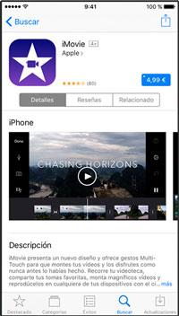 Vista de App Store al descargar aplicaciones