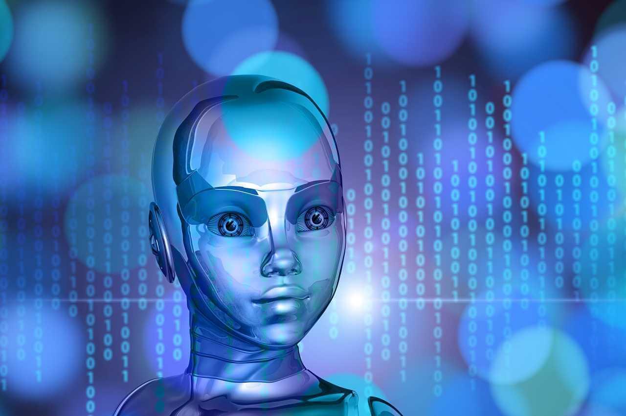 robot con rasgos humanoides