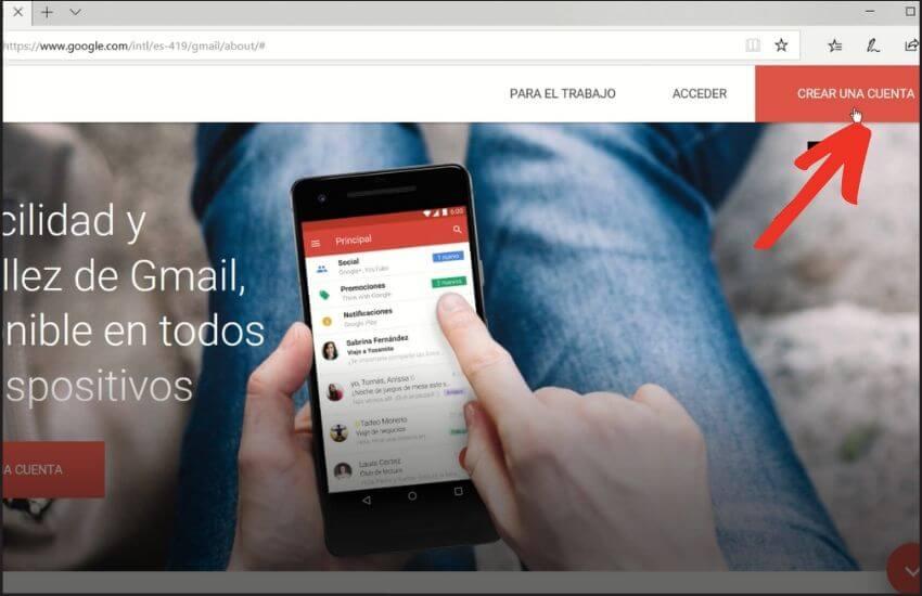 como crear cuenta de correo