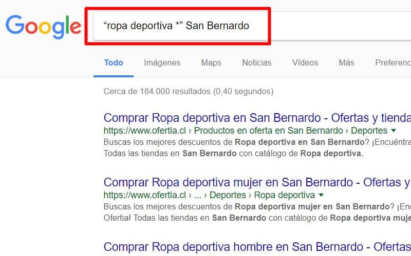 búsqueda por marca en google