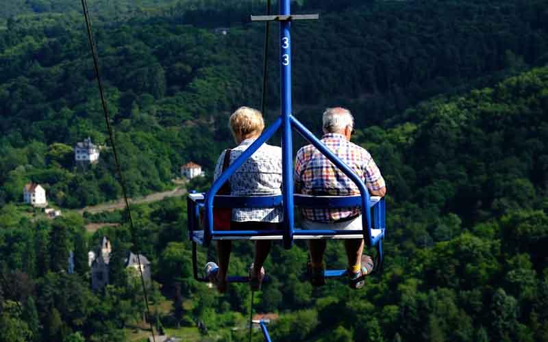 conocer la ciudad desde aéreo silla