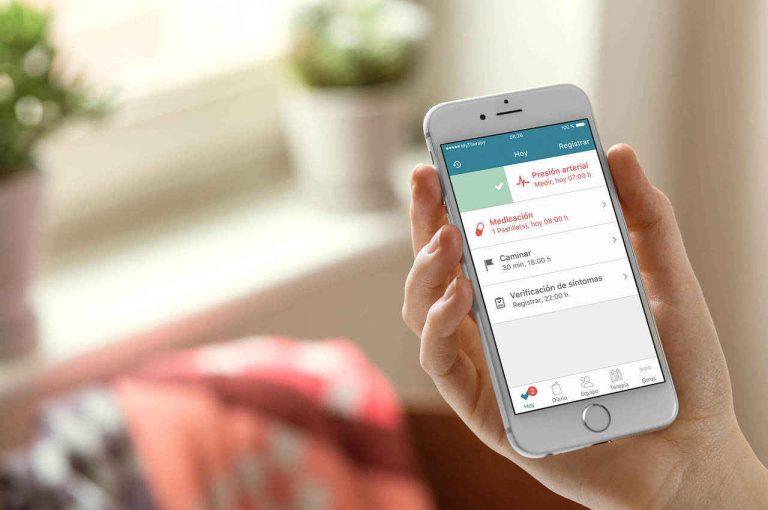 vista de la aplicación en el celular