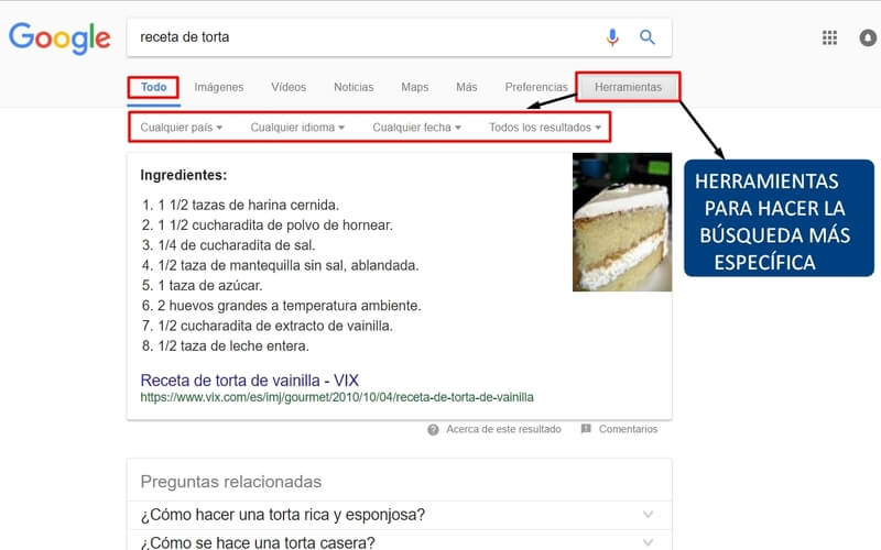 textos como buscar en google