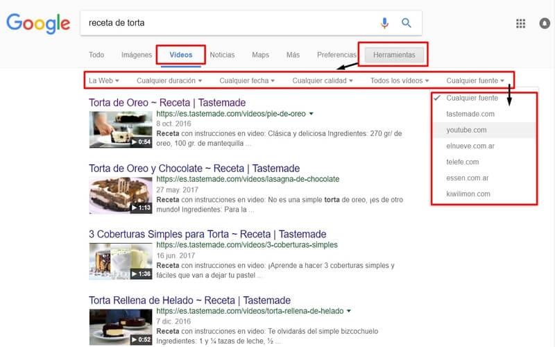 videos como buscar en google