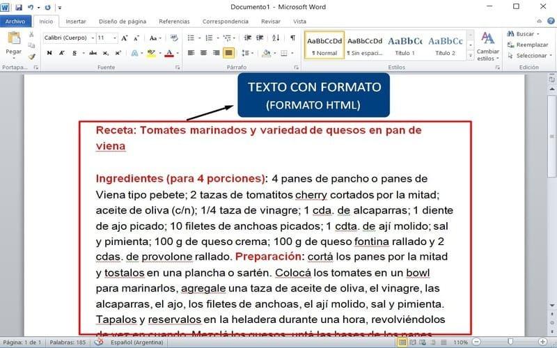 guia usar word texto con formato