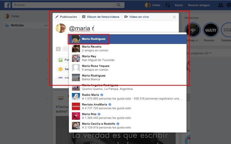 etiquetar en facebook