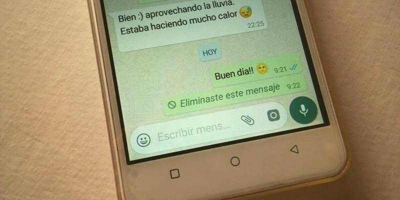 como eliminar un mensaje en whatsapp