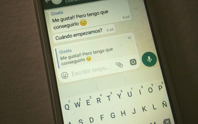 como responder un mensaje en un grupo whatsapp