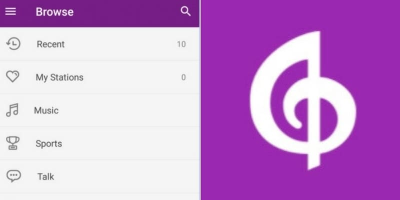 vista del sitio de descarga de la app