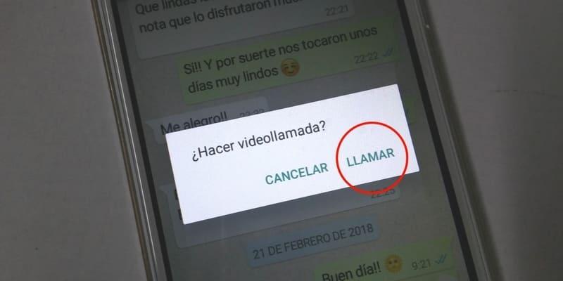 como hacer videollamada en whatsapp