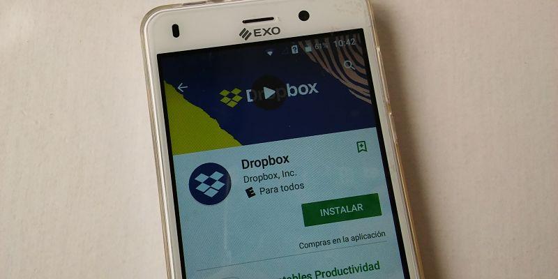 aplicacion dropbox para almacenar en la nube en el celular