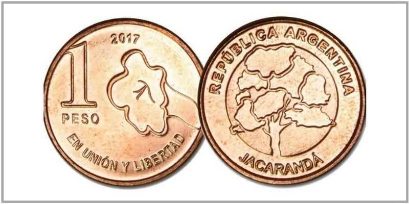 nueva moneda de 1 peso