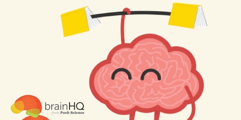 imagen de entrenar tu mente con logo de Brain HQ