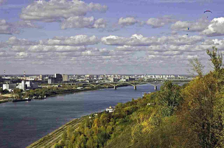 vista de río de la ciudad de Nizhny Novgorod