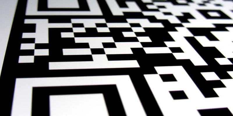 imagen cercana de un código qr
