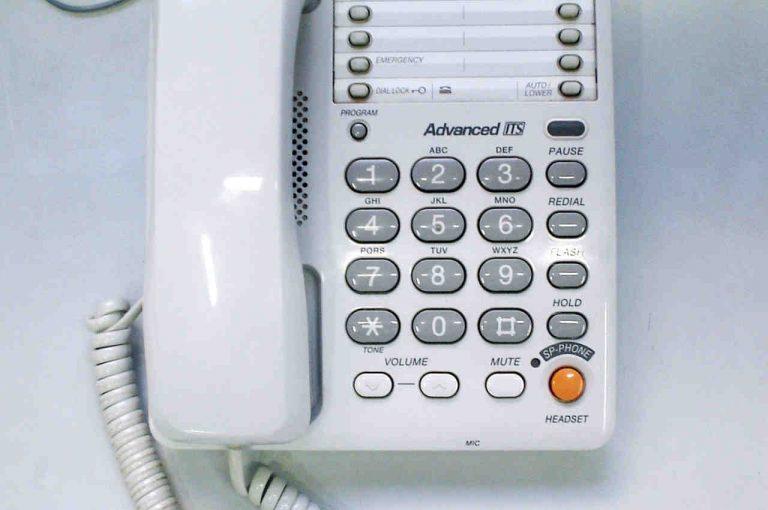 imagen de un teléfono para aclarar casos de estafa telefónica