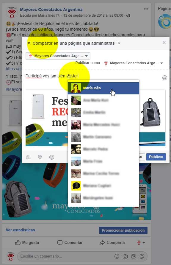 captura fanpage de Mayores Conectados