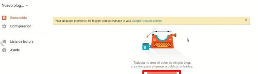 como crear tu primer blog