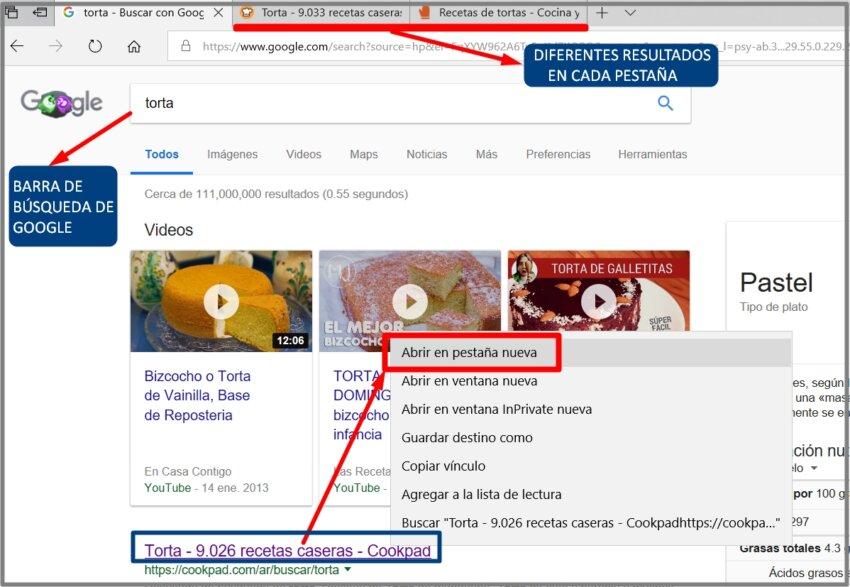 cómo usar el buscador google
