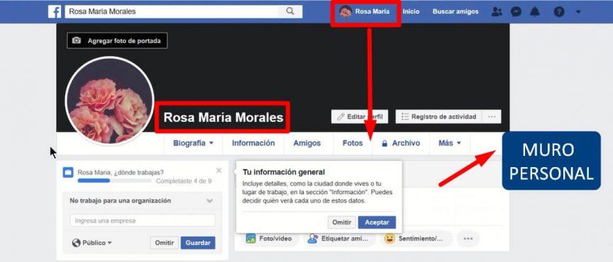 muro personal de facebook