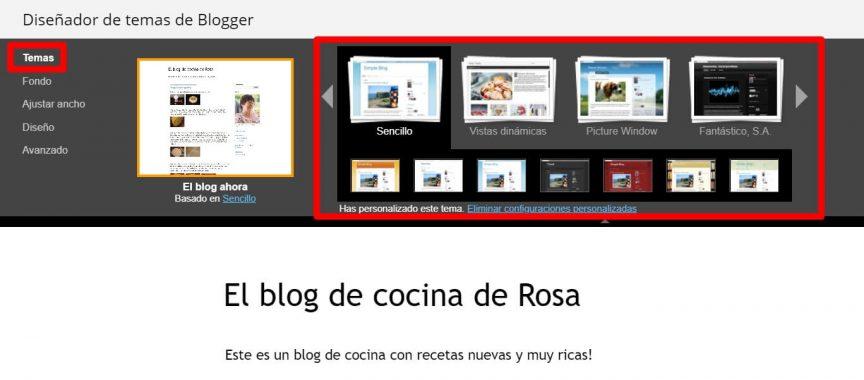 cambiar tema a blog de blogger
