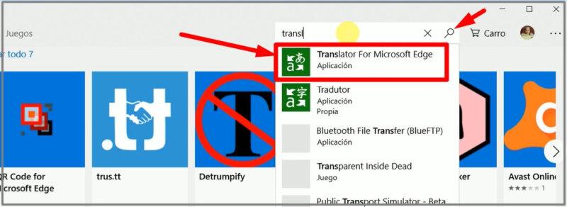 traducir una página de internet