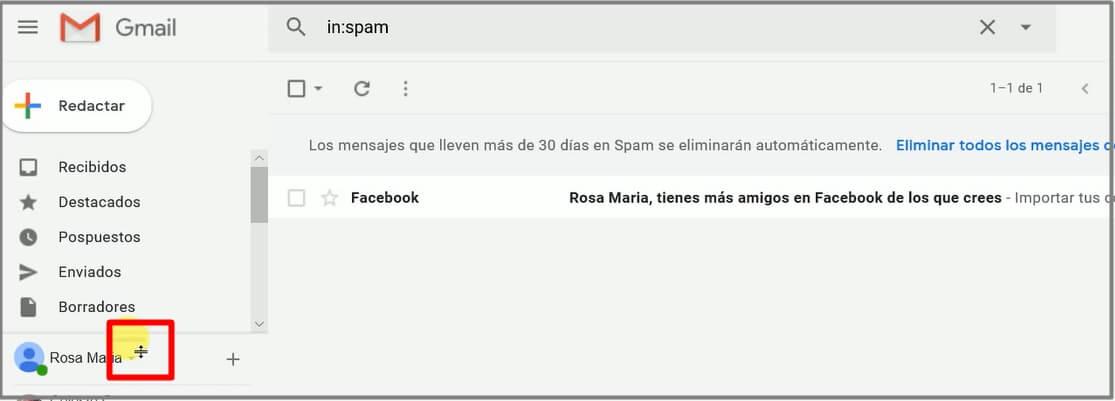 correo spam de gmail