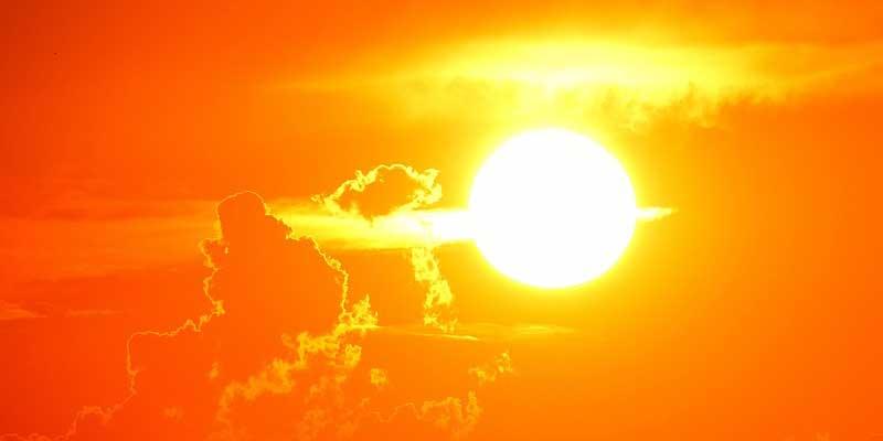 sol intenso de verano
