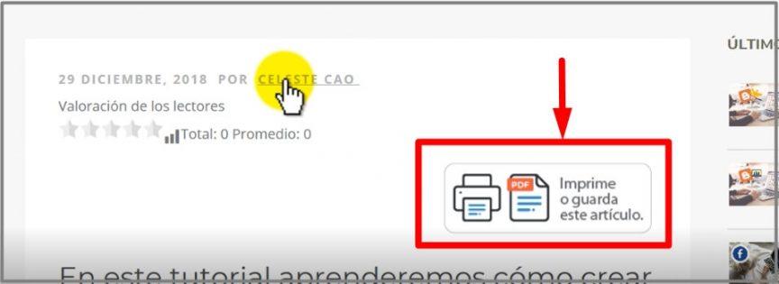 cómo imprimir pdf o guardar nota del blog