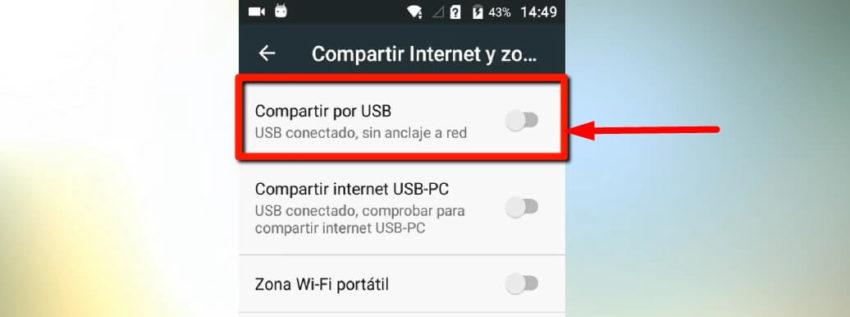 como pasar internet del celular a la computadora