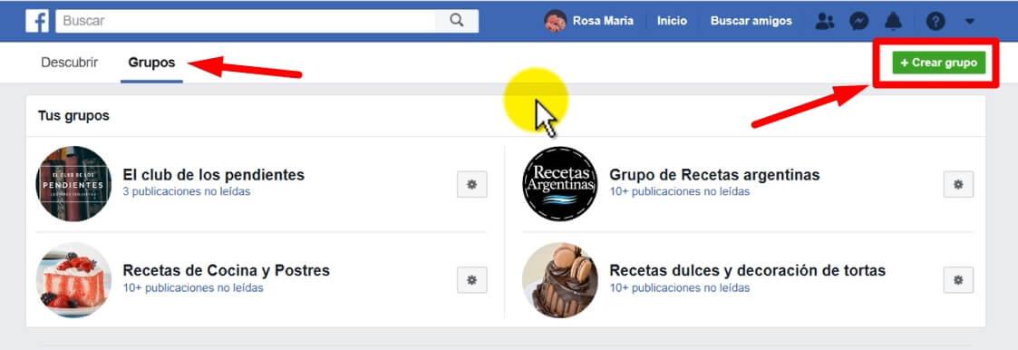 Cómo crear un grupo de Facebook