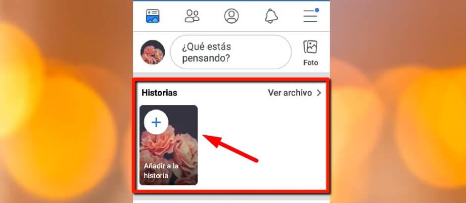 Cómo crear una historia en Facebook