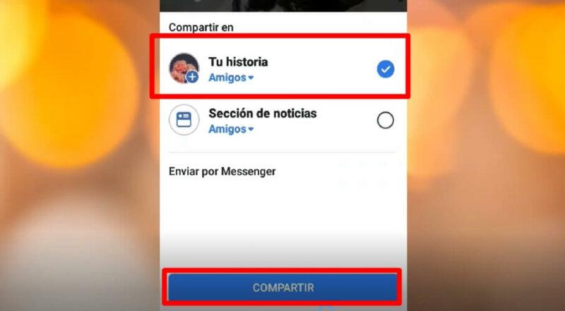 como crear historia en facebook