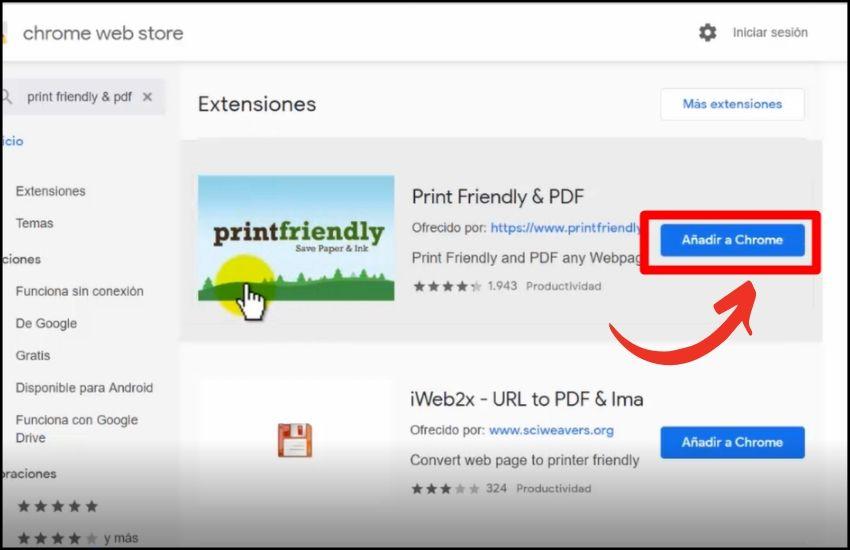 como imprimir o guardar contenido de internet