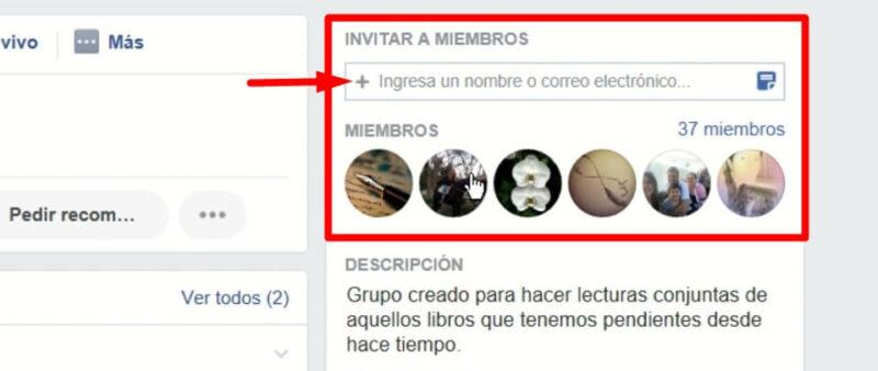 participar en un grupo de facebook