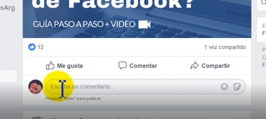 cómo comentar en facebook