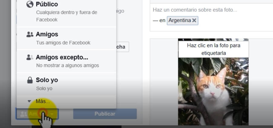 como crear album fotos en faceobok