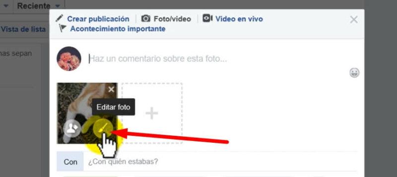 como hacer publicacion en facebook
