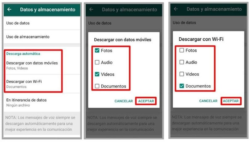 desactivar descargas de whatsapp