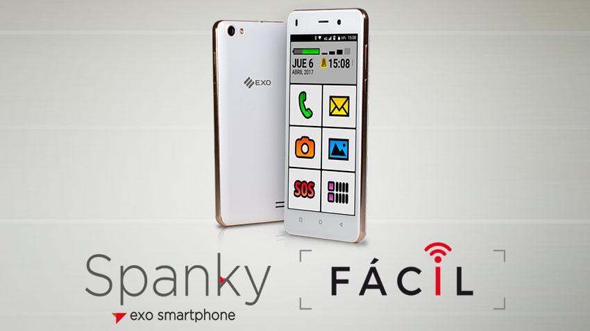 Además del diploma pudimos obsequiarle un celular smartphone EXO Spanky Fácil 4G