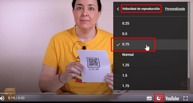 velocidad de los videos