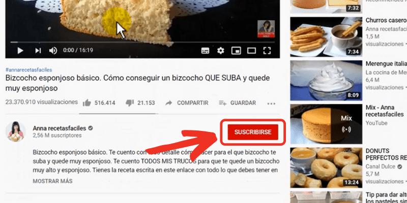 suscribirse a un canal de youtube
