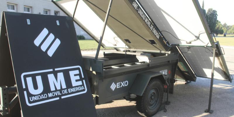 Unidad Movil de Energia Solar EXO
