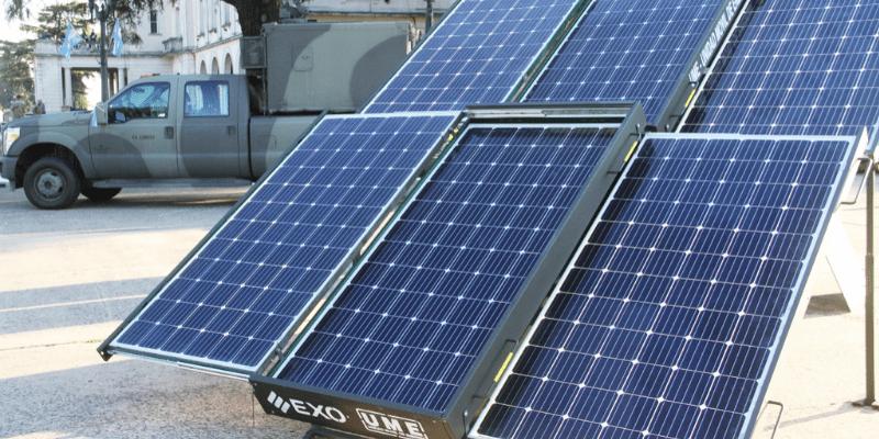 EXO diseñó la Unidad Móvil de Energía Solar para abastecer al Ejército Argentino durante la pandemia