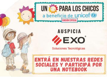 banner para conocer las bases y condiciones del sorteo Un Sol Para los Chicos, evento auspiciado por EXO