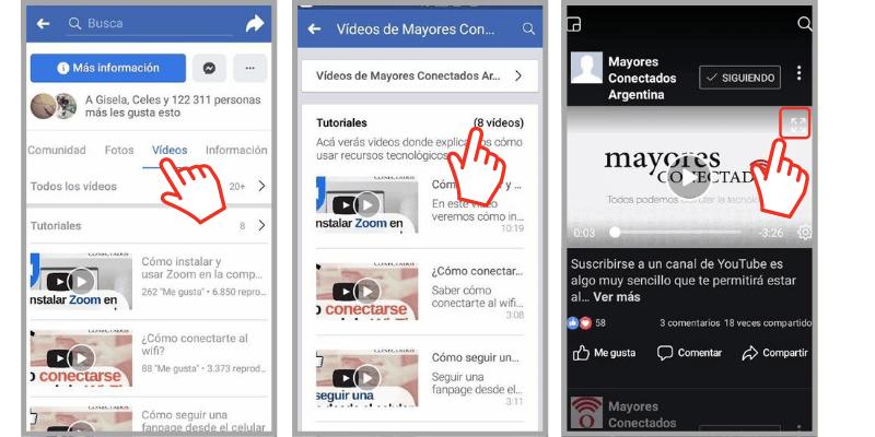 encontrar los videos en facebook