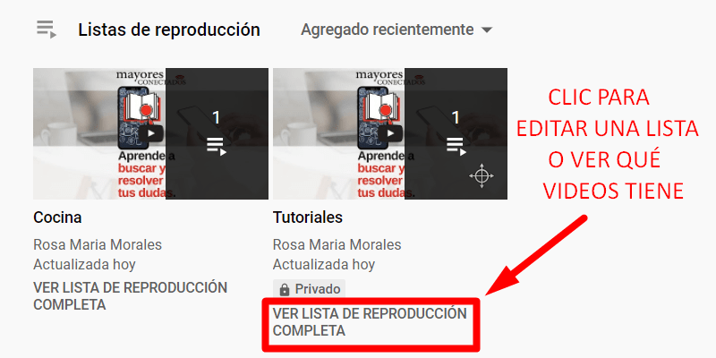guardar tus videos favoritos