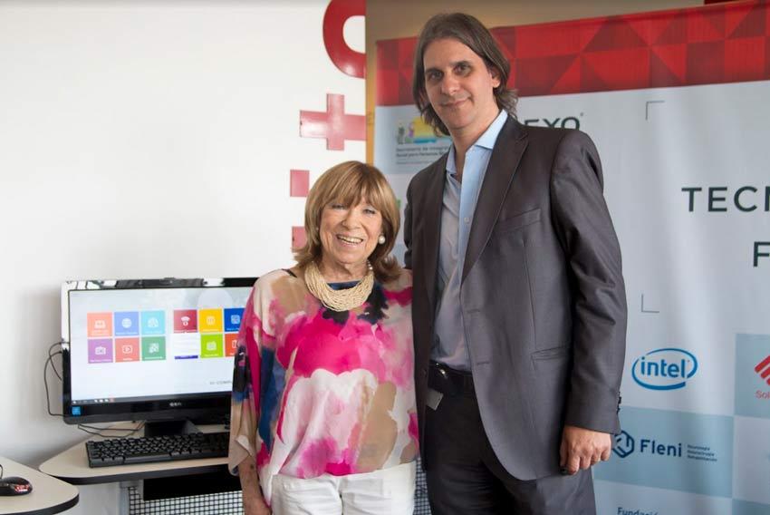 Fanny Mandelbaum junto a Jorge Scaramuzzo