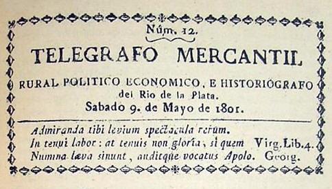 TELÉGRAFO MERCANTIL PRIMER – PERIÓDICO DE BUENOS AIRES COLONIAL – HISTORIA