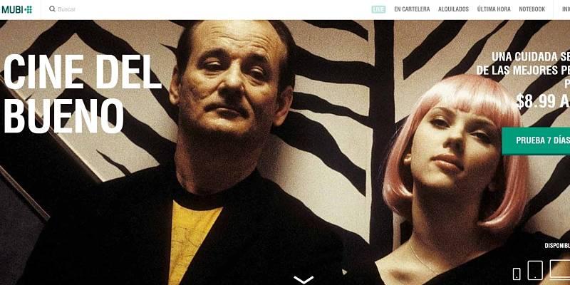 imagen de presentación de la plataforma mubi para acceder a período de prueba y ver películas online